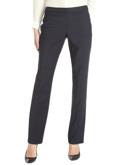 Elie Tahari navy pin stripe wool blend 'Jenny' straight leg pant