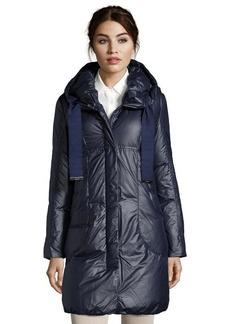 Elie Tahari navy quilted 'Lisa' down hooded coat