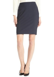 Elie Tahari navy stretch wool 'Kim' pencil skirt