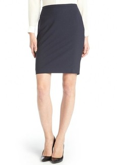 Elie Tahari navy stretch wool 'Kim' pencil skirt