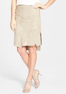 Elie Tahari 'Nicola' Suede Patchwork Skirt