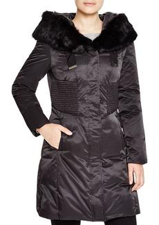 Elie Tahari Nina Fur Trim Puffer Coat