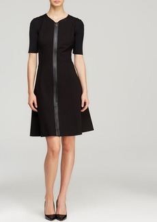 Elie Tahari Nina Zip Front Dress