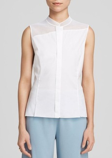 Elie Tahari Noel Mesh Panel Blouse - Bloomingdale's Exclusive