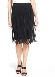 Elie Tahari 'Olsen' Fringe Knit Skirt