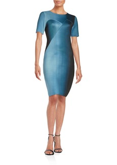 ELIE TAHARI Ombre Scuba Sheath Dress