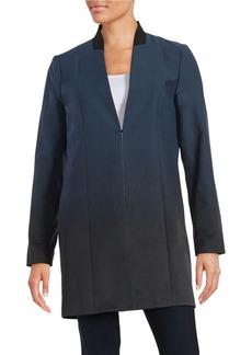 ELIE TAHARI Ombre Wool-Blend Top Coat