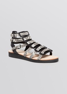 Elie Tahari Open Toe Gladiator Sandals - Crete