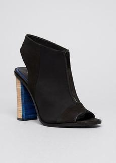 Elie Tahari Open Toe Platform Booties - Breeze High Heel