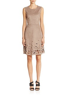Elie Tahari Ophelia Faux Suede Dress