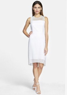 Elie Tahari 'Ophelia' Sleeveless Eyelet Cotton Sheath Dress