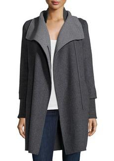 Elie Tahari Oversize-Collar Hooded Coat  Oversize-Collar Hooded Coat