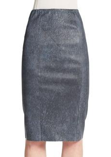 Elie Tahari Pamela Leather Pencil Skirt