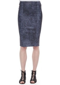 Elie Tahari Pamela Leather Pencil Skirt