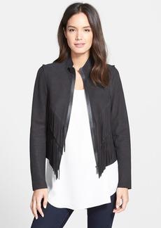 Elie Tahari 'Paulina' Fringe Leather Jacket