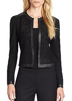 Elie Tahari Leather-Trimmed Pearson Jacket