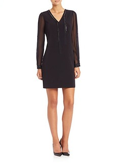 Elie Tahari Pencey Embellished Dress