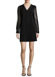 Elie Tahari Pencey Long-Sleeve Shift Dress  Pencey Long-Sleeve Shift Dress