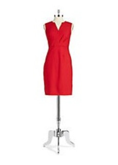 ELIE TAHARI Pleated Shift Dress