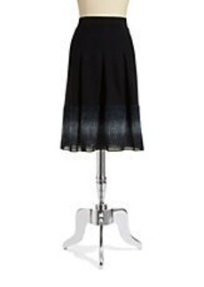 ELIE TAHARI Pleated Wool-Blend Skirt