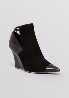 Elie Tahari Pointed Toe Wedge Booties - Zaire