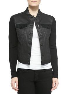 Elie Tahari Priscilla Calf Hair & Leather Jacket
