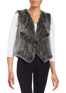 ELIE TAHARI Rabbit Fur Vest