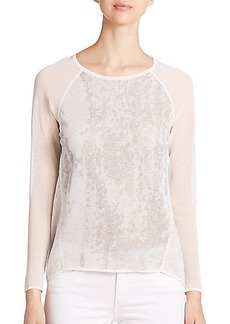 Elie Tahari Raglan Burnout-Pattern Top