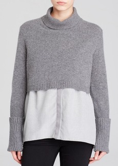 Elie Tahari Raleigh Mixed Media Sweater