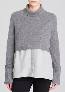 Elie Tahari Raleigh Mixed Media Sweater
