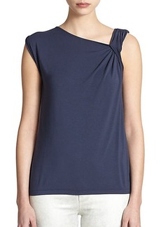 Elie Tahari Remi Knit Colorblock Top