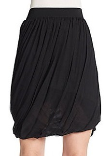 Elie Tahari Remmi Silk Pleated Skirt