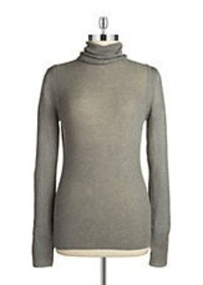 ELIE TAHARI Ribbed-Knit Turtleneck