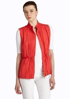 Elie Tahari rio bravo pleated 'Valerie' drawstring vest