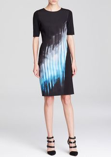 Elie Tahari Romayne Abstract Print Dress