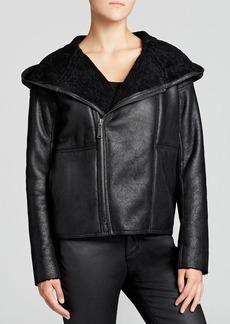 Elie Tahari Roslyn Lamb Shearling Jacket