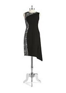 ELIE TAHARI Roundneck Sheath Dress