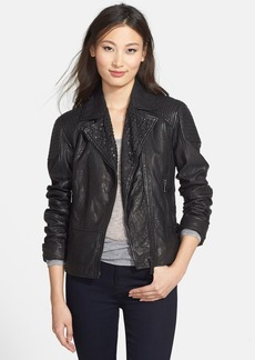 Elie Tahari 'Roxie' Studded Lambskin Leather Jacket