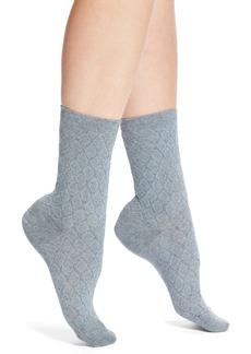Elie Tahari Ruched Diamond Texture Trouser Socks