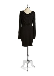 ELIE TAHARI Ruched Sheath Dress