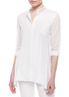 Elie Tahari Sabella Long-Sleeve Blouse W/Mesh Detail  Sabella Long-Sleeve Blouse W/Mesh Detail