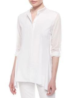Elie Tahari Sabella Long-Sleeve Blouse W/Mesh Detail  Sabella Long-Sleeve Blouse W/Mesh Detail