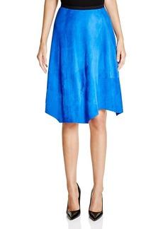Elie Tahari Sachi Suede Handkerchief Skirt