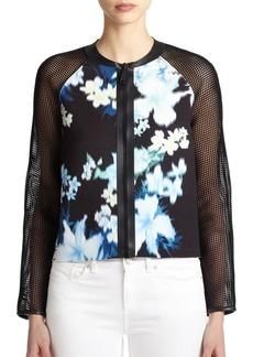 Elie Tahari Sandie Laser-Floral Jacket