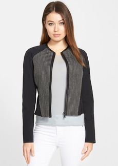 Elie Tahari 'Sandie' Mixed Media Jacket