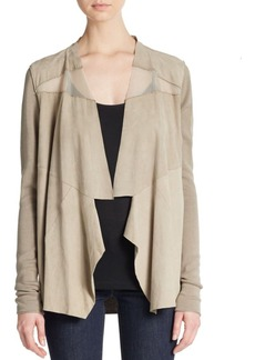 Elie Tahari Sarena Mixed-Media Jacket