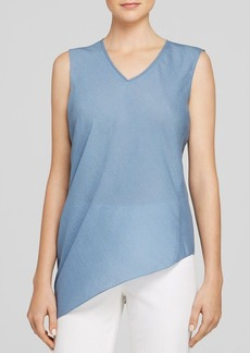 Elie Tahari Savannah Asymmetric Silk Top