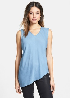 Elie Tahari 'Savannah' V-Neck Sleeveless Silk Blouse