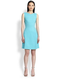 Elie Tahari Seamed A-Line Dress