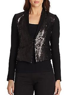 Elie Tahari Selena Sequin Combo Jacket